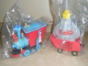 Disney Casey Jr Train Popcorn Bucket And Dumbo Circus Sipper Cup 2 Pcs New Sealed