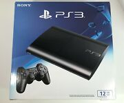 Playstation 3 Super Slim 12gb Console Sony Ps3 Black Cech-4301a - New Sealed