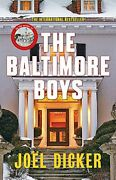 Baltimore Boys By Joal Alison Anderson Dicker - Hardcover Excellent Condition