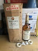 Rare Vintage Walkers De Luxe Big Canadian Club Whiskey Bottle Giant Ad Collect