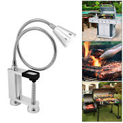 Led Bbq Grill Light Attaches Magnetically Surface 12 Led Lights Screw Clamp
