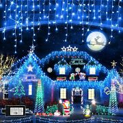 Christmas Lighting 1280 Led 131ft 8 Modes Super Long Icicle Lights With 240
