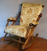 Old Hunzinger Rocking Chair High Style Victorian Walnut / We Can Have Delivered
