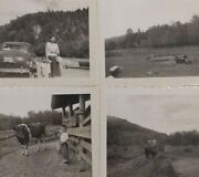 4 Vtg Frontier Town 1950s Photos Lake George Ny Amusement Park Rodeo Prairie