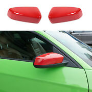 Abs Red Side Door Mirror Covers Shell Cap For Ford Mustang 2009-2013 Accessories