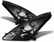 For 2000-2005 Toyota Celica Headlights Replacement Headlamps Black/clear Rh+lh