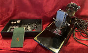 Antique 1940 Singer 221 Scroll Front Featherweight Sewing Machine W/ Foot Pedal
