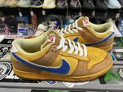 Nike Sb Dunk Low New Castle Size 10 Vintage Vtg Authentic Rare Used Yellow Skate