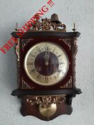 Odo Antique French Wall Clock With Chime On The Bell 0408