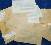 103 Vintage 1980's Baseball And Football Text Heat Transfer Lot New Old Stock