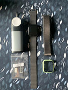 Apple Watch Series 5 44mm Stainless Steel With Original Leather Band/accesories