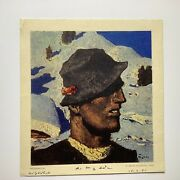 Rare Alfons Walde Signed Lithograph Andldquoholzknechtandrdquo Dated 15-2-51