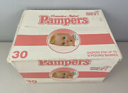 Vintage Pampers Diapers Preemie Hospital Sealed Box 30 Plastic Tape 1970andrsquos 1980s