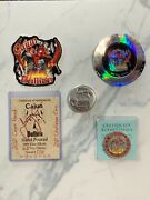 .999 Silver 2.5ozt Poured Cajun Round And Cajun Challenge Coin Both Are 16