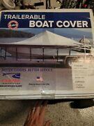 Carver Pontoon Boat Cover 25 Ft. 77625s Ped-25 -color Admiral Navy - Sun-dura