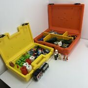 Vintage 1980and039s Fisher Price Construx Case And Parts Lot Building Toys Lots Of 2