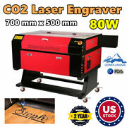 Us Stock 700 Mm X 500 Mm 80w Co2 Laser Engraver And Cutter Machines Usb 2.0
