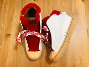 Coach High Top Platform Shearling Trim Leather Sneaker Boots G1493 Nwob Size 7