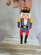 Jointed Nutcracker Soldier Ornament Xmas Holiday Tree