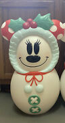 Disney Minnie Mouse Blowmold Snowman Christmas 24and039and039 2020 Hard To Find Sold Out