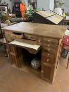 Vintage Watchmaker/jewelers Multi Drawer Wooden Bench—10886