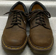 Dr. Martens Us Womens 5 Gaucho Crazy Horse Shoes Made In England 8053/59 Vintage