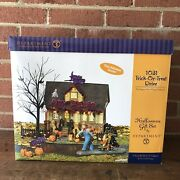Rare New Dept 56 1031 Trick Or Treat Drive Halloween Lighted House Sounds And Box