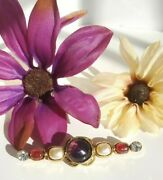 Paris Couture 1985 Gripoix Purple Red Poured Glass Pearl Brooch Pin Rare