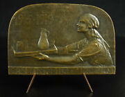 Medal Canteen Military Plm Laurence Dupuy Epreuve D'author C1920 3 5/32in Medal
