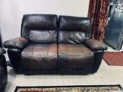 Leather Recliner Sofa And Loveseat-used Manual Recliner