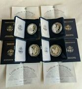 4 - 1995 American Eagle Dollar 1 Oz Silver Proof Us Mint With Box And Coa