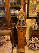 Egyptian Antique Clock With Pedestal 1950and039s Chimes And Works Beautifullycleanandnbsp