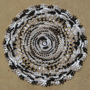 New Gift Holiday Halloween Handmade Crocheted Doilies Black/white 18 1/2 In