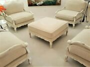Club Accent Chairs - Formal - 5 Piece - 4 Chairs, 1 Lg Ottoman - Very Elegant