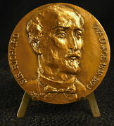 Medal Sir Richard Wallace 1st Baronet Art Collector By Boyer 5.89oz 2 11/16in
