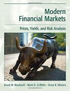 Modern Financial Markets Prices, Yields And Risk Analysis By David W. Blackwell