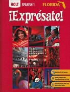 Expresate Holt Spanish 1 Florida Edition By Nancy Humbach - Hardcover Mint