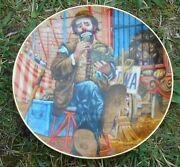 Emmett Kelly The Greatest Clowns Of The Circus Vintage Porcelain Plate 1982