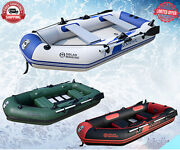Inflatable Pvc Rubber Fishing Boat Laminated Wear Resistant 3-4 Person Kayak New