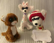 Twisted Whiskers 2 Bendable Dogs And 1cat Plush Stuffed Animals
