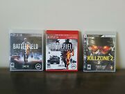 Playstation Ps3 Games Lot Of 3 Battlefield And Killzone