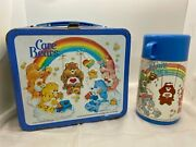 Rare 1983 Care Bears Metal Lunch Box With Thermos Aladin Vintage