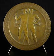 Medal Glory In The Sport 1930 China Style Art-déco To Translate 17oz