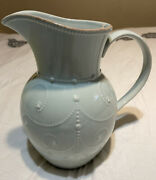Lenox French Perle Ice Blue Large Pitcher 72 Oz Perfect Condition