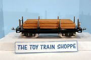 Mth Tinplate Flatcar With Lumber Load. Standard Gauge. Excellent Condition.