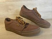 Off The Wall Pro Mens Brown Lace Up Skateboard Sneakers Shoes Size Us 11.5