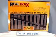 Mth Realtrax 40-1033 24-pc Graduated Trestle System. Rises To 6-1/2. Ln In Box.