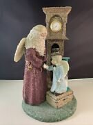Vintage 1999 Enesco Belsnickle Limited Edition Father Time And Baby New Year