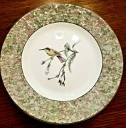 Wedgewood Hummingbird 2 Plates 8 1/8 Excellent China Gold Edges 1991