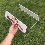 Vintage Advertising Mm Multi-mile Tire Shop Stand Rack Display Sign Gas Oil
